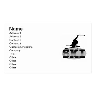 Silhouette Ski T-shirts and Gifts Business Card