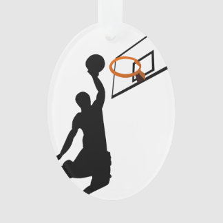 Silhouette Slam Dunk Basketball Player