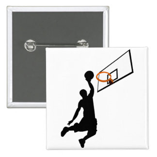Silhouette Slam Dunk Basketball Player Pin