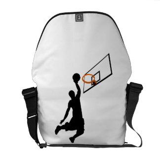 Silhouette Slam Dunk Basketball Player Messenger Bags