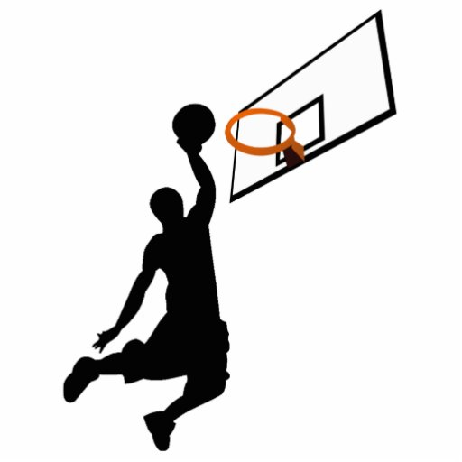 Silhouette Slam Dunk Basketball Player Acrylic Cut Out