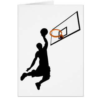 Silhouette Slam Dunk Greeting Cards