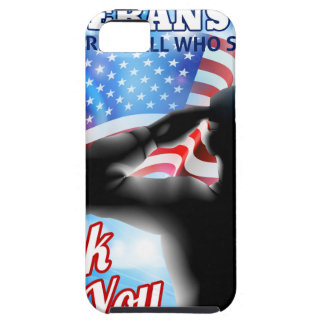 Silhouette Soldier Saluting American Flag Veterans iPhone SE/5/5s Case