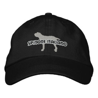 Silhouette Spinone Italiano Embroidered Hat