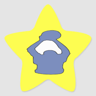 Silhouette Star Sticker