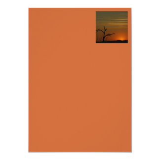 Silhouette Sunset Card