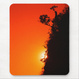 Silhouette Sunset Mouse Pad