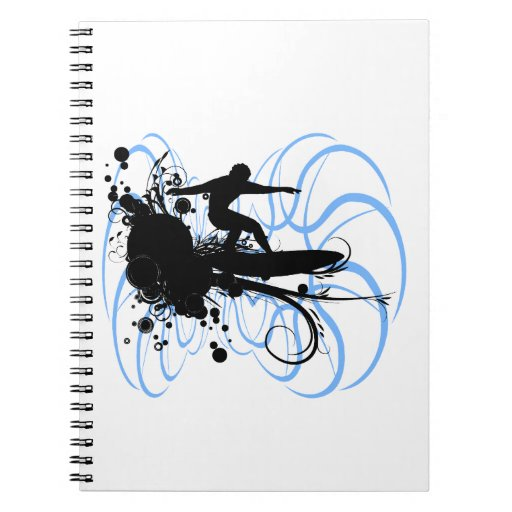 Silhouette Surfer Notebook
