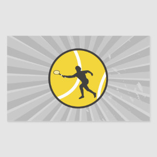 silhouette tennis vector design rectangular sticker