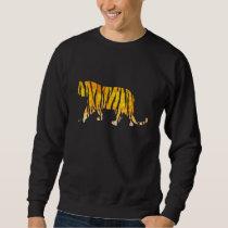 Silhouette Tiger Black and Orange Sweatshirt