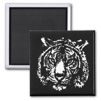 Silhouette Tiger Magnet