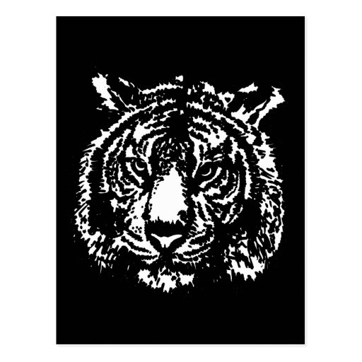 Silhouette Tiger Postcards