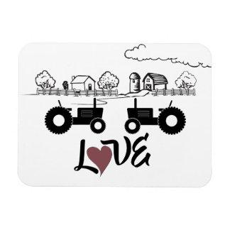 Silhouette Tractor Couple in LOVE Farm Magnet