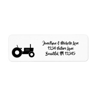 Silhouette Tractor Farm Address Label