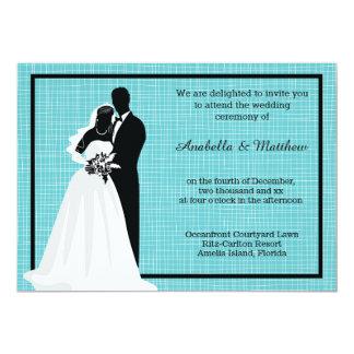 Silhouette Wedding Couple Card