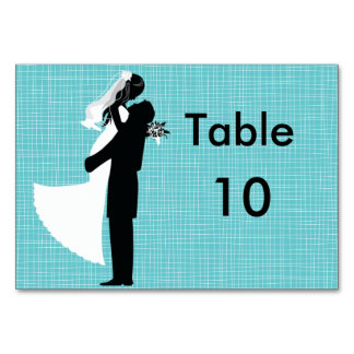 Silhouette Wedding Couple Table Cards