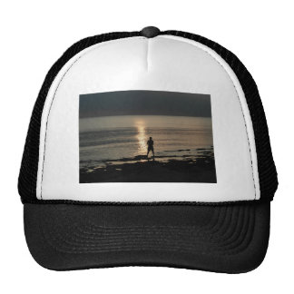 Silhouette with sparkle trucker hat