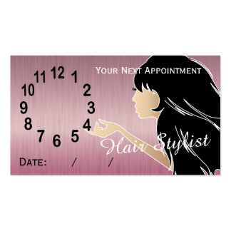 Silhouette Woman Hair Stylist Appointment Business Card Template