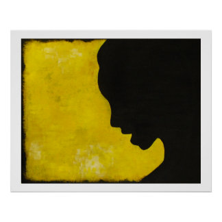 Silhouette: Yellow Posters