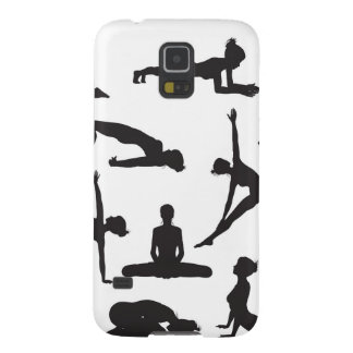Silhouette Yoga poses Galaxy S5 Case
