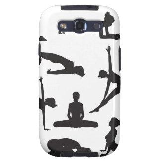 Silhouette Yoga poses Samsung Galaxy SIII Case