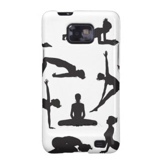 Silhouette Yoga poses Samsung Galaxy S2 Cover