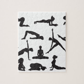 Silhouette Yoga poses Jigsaw Puzzles