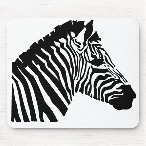 Silhouette Zebra Mouse Pad