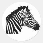 Silhouette Zebra Stickers