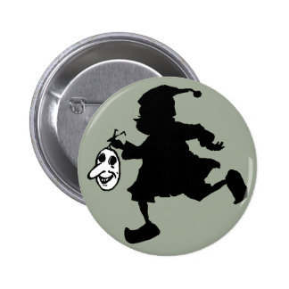 Silhouetted Brownie Has Mask Needs Costume Pinback Button