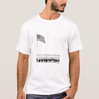 Silhouetted Brownie Patriots and Flag T-Shirt