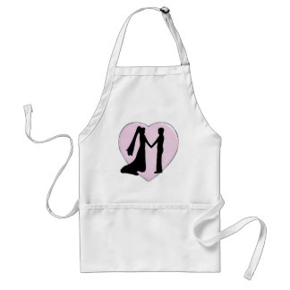 Silhouetted Heart Adult Apron