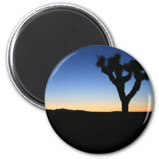 Silhouetted Joshua Tree 2 Inch Round Magnet