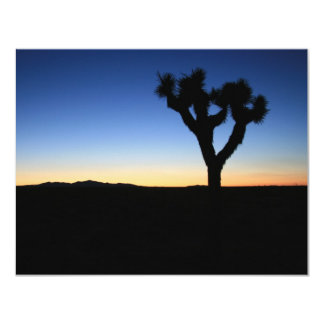 Silhouetted Joshua Tree Card