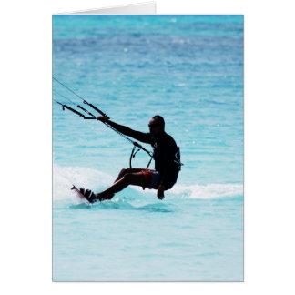 Silhouetted Kitesurfer Card