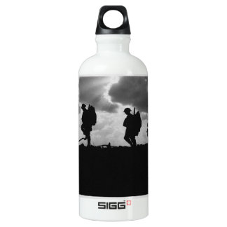 Silhouetted Marching World War I Soldiers (1917) Aluminum Water Bottle
