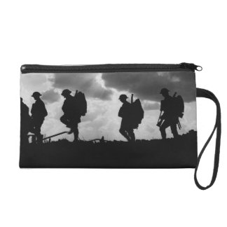 Silhouetted Marching World War I Soldiers (1917) Wristlets