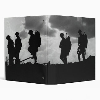 Silhouetted Marching World War I Soldiers 1917 Binder