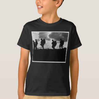 Silhouetted Marching World War I Soldiers (1917) T-Shirt