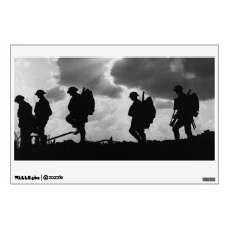 Silhouetted Marching World War I Soldiers (1917) Room Graphic