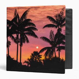 Silhouetted palm trees, Hawaii Binder
