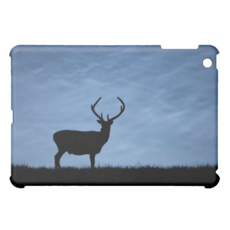 Silhouetted Red Deer Stag at Night Cover For The iPad Mini