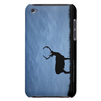 Silhouetted Red Deer Stag at Night iPod Touch Case