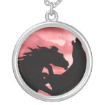 Silhouetted Stallion Necklace