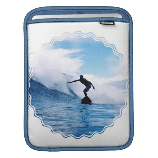 Silhouetted Surfer iPad Sleeve