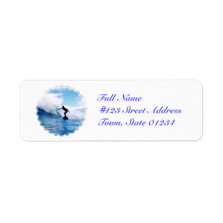 Silhouetted Surfer Mailing Labels