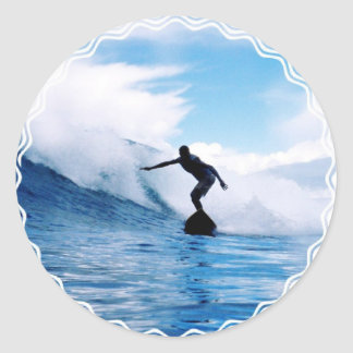 Silhouetted Surfer  Stickers