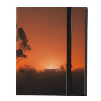 Silhouetted Tree AT Night iPad Case