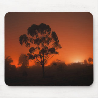 Silhouetted Tree AT Night Mouse Pad