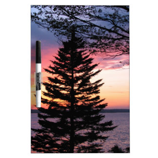 Silhouetted Tree at Sunset Dry-Erase Whiteboards